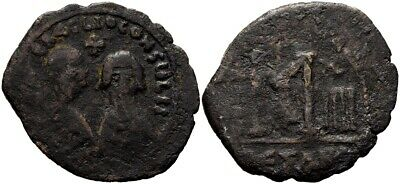 FORVM Rare Byzantine Revolt of the Heraclii in Egypt AE29 Follis