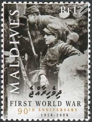WWI Trench Warfare French Army Soldiers at Alsace Use Periscope Stamp (2008)