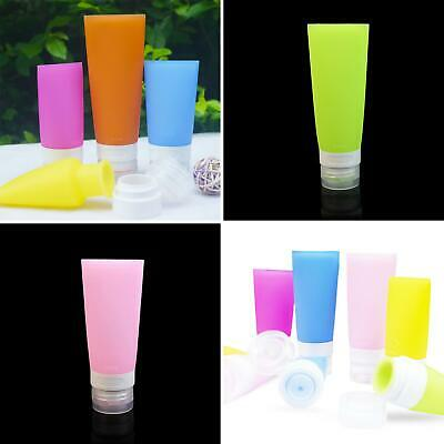 Empty Silicone Travel Bottle Lotion Shampoo Cosmetic Tube Container Portable kit