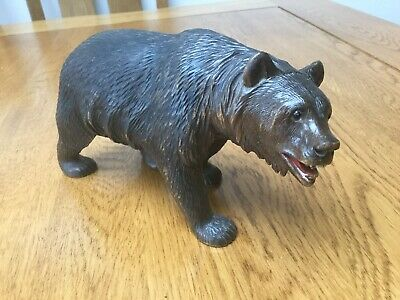 Beautiful Antique Large Black Forest Bear