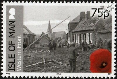 WWI Western Front: Army Clear Up of Bombed Town of Nesle (Somme/France) Stamp