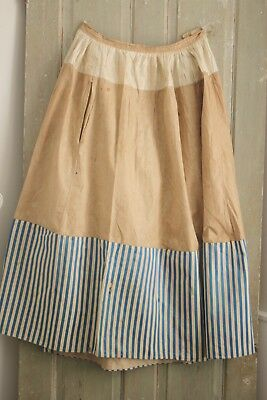 Petticoat or skirt 18th or early 19th century clothing Antique French striped