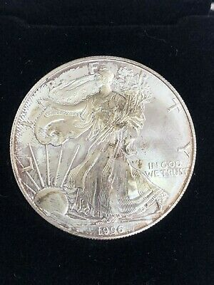 1996 American Silver Eagle $1 Coin with Case Key date