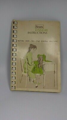 Vintage Sears Kenmore Instructions book Model 1400 Zig Zag Sewing Machine Manual