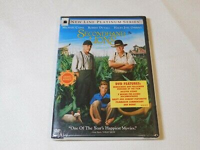 Secondhand Lions (DVD, 2004, New Line Platinum Series) Rated PG Comedy !