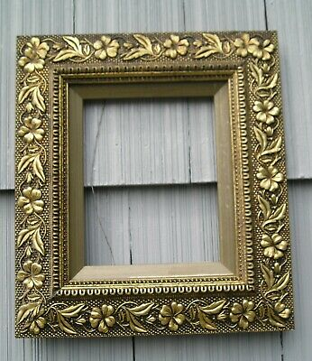 Antique Aesthetic Eastlake Victorian Ornate Floral Gilt Picture Frame 8 x 10