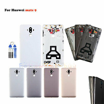 For Huawei Mate 9 Battery Case Metal Housing Frame Shell Cover Back Door+Buttons