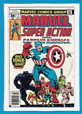 Marvel Super Action #1_May 1977_Vg+_Captain America #102 Reprint_Premiere Issue!