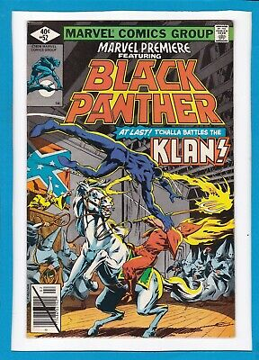 """Marvel Premiere #52_February 1980_Very Fine_Black Panther_""""the Klan""""_Bronze Age!"""