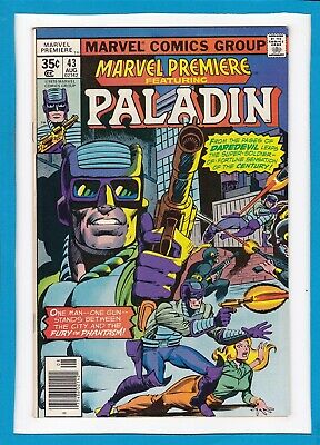 Marvel Premiere #43_August 1978_Very Fine/near Mint_Paladin_Bronze Age Marvel!