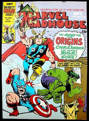 Marvel Madhouse 1 a nrm 1981 Bronze Age B&W Marvel UK reprint of Not Brand Ecch!