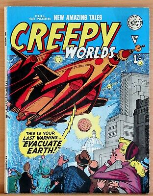 Creepy Worlds 30 a Fn+/Vfn 1964 Silver Age Alan Class 68 page UK Giant b&w Comic
