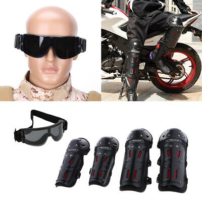 Anti Fog Safety Glasses and 4x Motorcycle Anti Slip Protective Gear