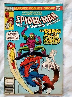 Spider-Man and his Amazing Friends 1 (1981) Fire Star, Ice Man, Green Goblin app