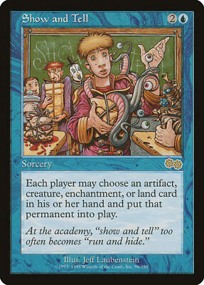MTG X1: Show and Tell, Urza's Saga, R, Moderate Play - FREE US SHIPPING!