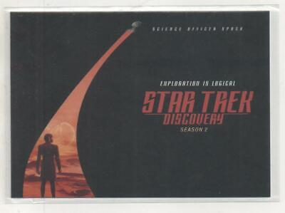 """Star Trek Discovery Season 2 DOUBLE-SIDED """"Spock"""" Promo Trading Card"""