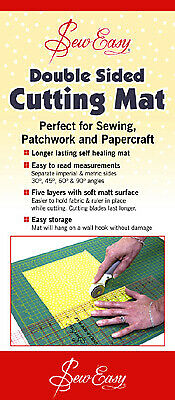 Sew Easy ER4090 Self-Healing 2-Sided Cutting Mat Imperial/Metric Grid 900x600mm