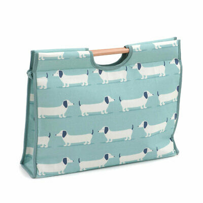 HobbyGift HGCB369 | Hound Dog Duck Egg Craft Bag | Wood Handles | 11x42x30cm