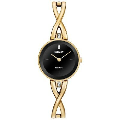 Citizen Eco Drive EX1422-54E Ladies Gold Stainless Steel Bangle Bracelet Watch
