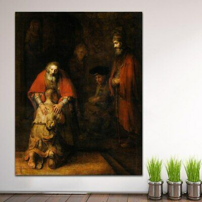Large size Printing Rembrandt Harmensz van Rijn The Wall Art Canvas