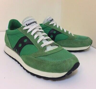 timeless design 2bfe4 f97f9 SAUCONY JAZZ ORIGINAL vintage green trainers/running shoes men's size 9.5