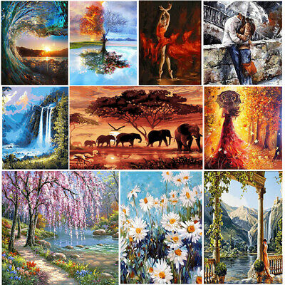 DIY Paint by Number Kit Acrylic Oil Painting On Canvas Art Paint Wall Home Decor