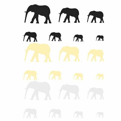 Home Acrylic Elephant Pattern Self-adhesive Protector Mirror Wall Sticker