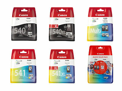 Boxed Canon PG540 CL541 PG540XL CL541XL Ink Cartridges For PIXMA MG3150 Printer