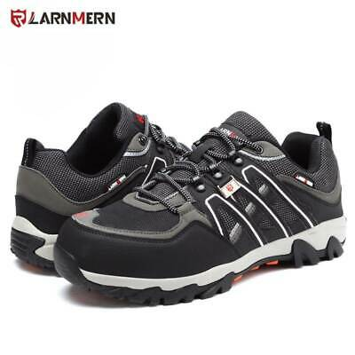 Larnmern Men's Steel Toe Safety Work Shoes Breathable Slip Resistance Boots