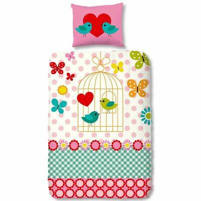 Good Morning Housse de couette 5290-P FUNNY BUTTERFLY 140 x 200/220 cm