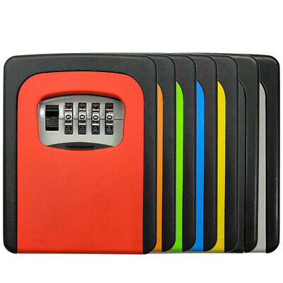 Wall Mounted Resettable Code 4-Digit Combination Lock Box Eco-friendly Paint