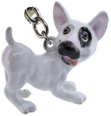Little Paws English Bull Terrier Key Ring w/Charms & Trolley Coin