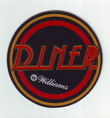 Diner Pinball Machine Promo Plastic Williams 1990 Large Size Collectible Coaster