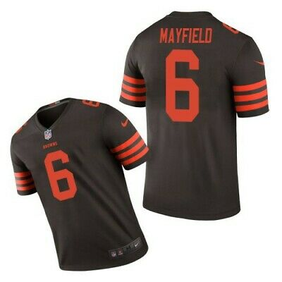 9013c0fb899 Men s Cleveland Browns 6  Baker Mayfield Jersey Brown White Color Rush M-