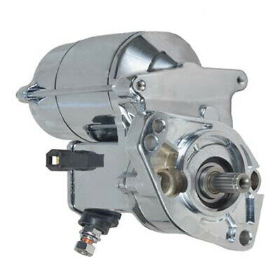 """New Chrome Gear Reduction Starter 7"""" Fits Harley 31559-99A 31702-98 1280008220"""