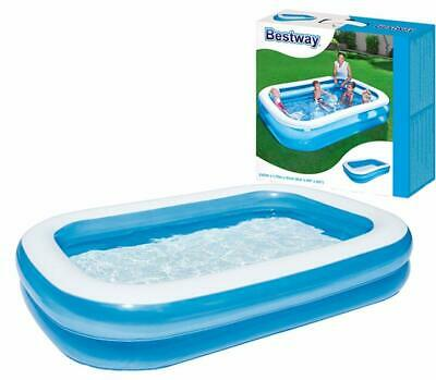 """8 ft Family Size Large Inflatable Swimming Paddling Pool 103"""" x 69"""" x 20"""""""