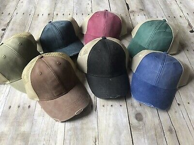 c14614840 ADAMS 6-PANEL HAT Pigment-Dyed Distressed Trucker Cap OL102 - $7.99 ...