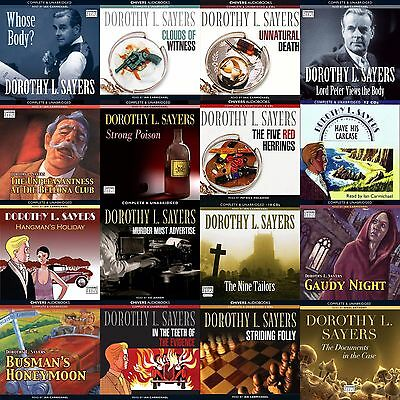 Dorothy L.Sayers 6 x CDs Lord Peter Wimsey Books Audio Collection on mp3 CDs