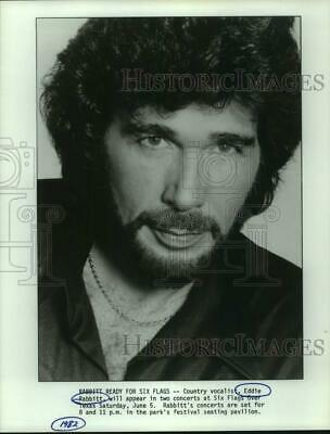 1982 Press Photo Eddie Rabbitt, country singer, to perform at Six Flags.