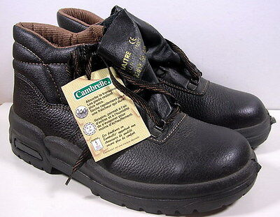 Chaussures Anciennes Securite Lemaitre En Cuir Taille 40 Made In France