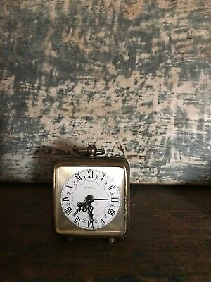 Vintage Marksman Brass Filigree Glow In The Dark Alarm Clock West Germany