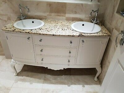 double basin unit with granite top