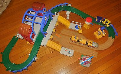 Fisher Price Geotrax Grand Central Station Building Railroad Aero Train Set Lot