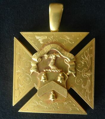 SCOTTISH 9CT GOLD DUX MEDAL, MADRAS COLLEGE, ST ANDREWS, SCOTLAND c1928
