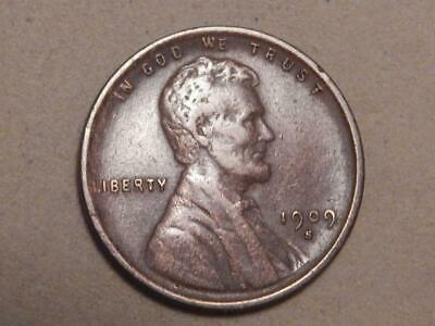 1909 S Lincoln Wheat Ear, Cent, Penny. VF+