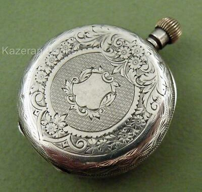 Antique Swiss Hallmarked Solid Silver Case Fob Pocket Watch Clemence Bros