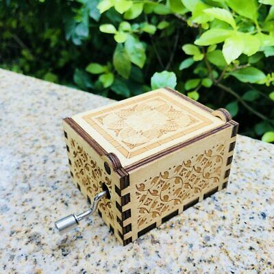 Antique Carved Game of Thrones Music Box