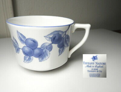 Tiffany & Co TIFFANY NATURE Blueberry Tea/Coffee Cup, Mint !