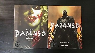 2018 Batman Damned #2 First Print Regular And Variant Nm Flat Rate Shipping