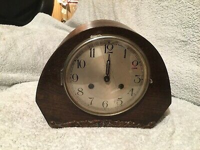 Vintage Art Deco Wooden Mantel Clock